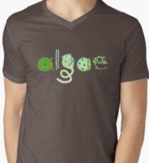 Literate Microscopic Algae V-Neck T-Shirt