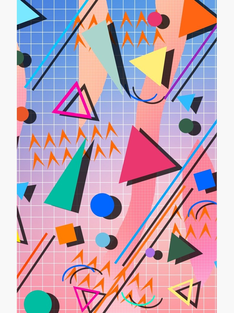 80s pop retro pattern 2 by mikath