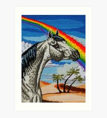 Arabian Needlepoint Art Print