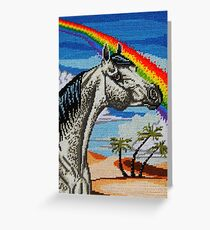 Arabian Needlepoint Greeting Card