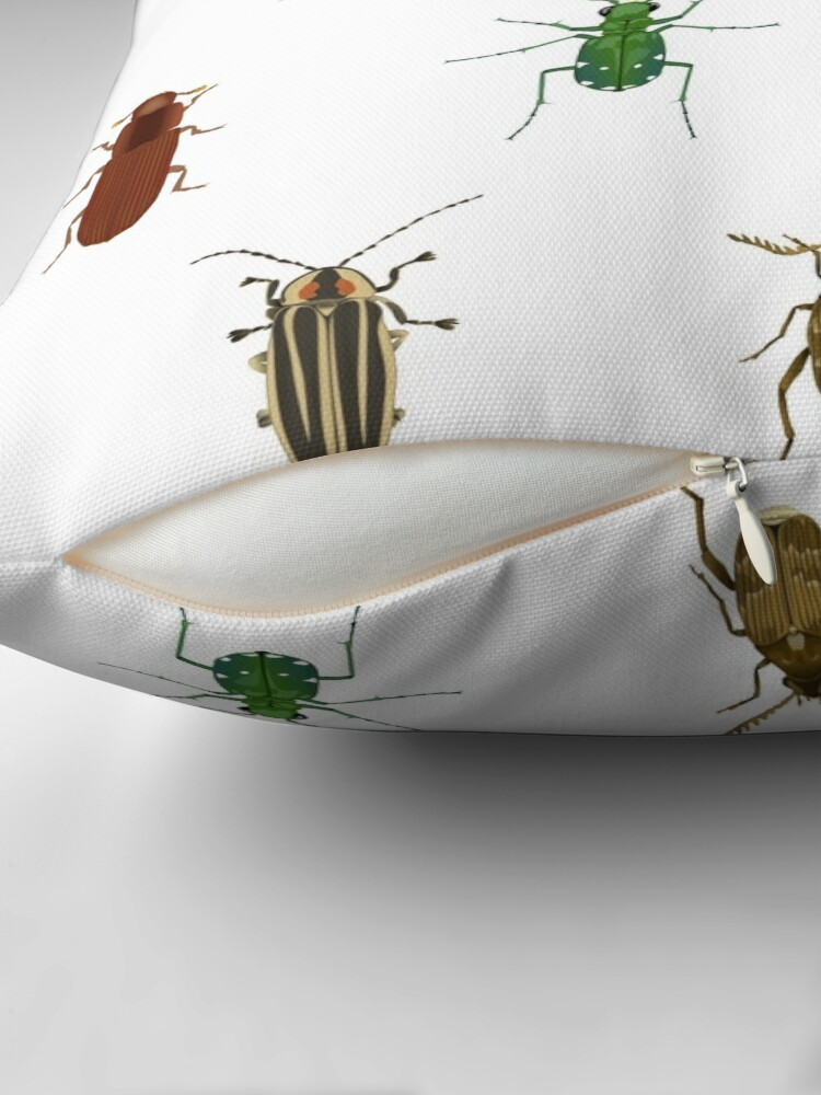 Alternate view of Four Beetles Throw Pillow