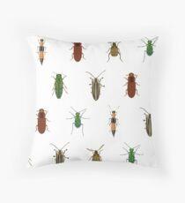 Four Beetles Throw Pillow