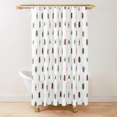 Four Beetles Shower Curtain