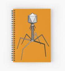 T4 bacteriophage virus Spiral Notebook