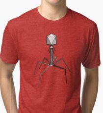 T4 bacteriophage virus Tri-blend T-Shirt