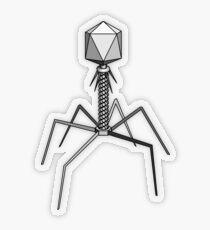 T4 bacteriophage virus Transparent Sticker