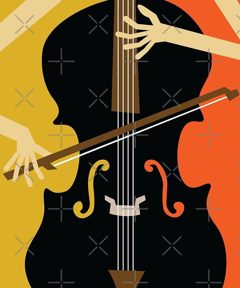 Jazz Cello by jetblackyak