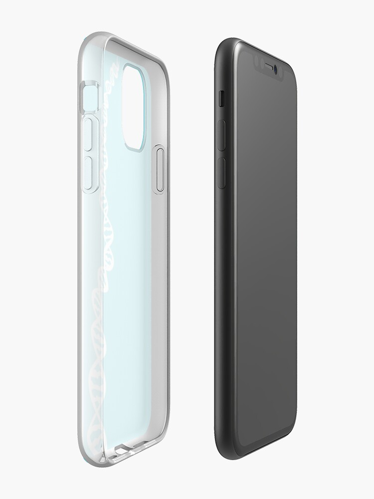 Alternate view of DNA strand - white iPhone Case & Cover