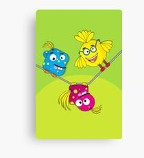 Wacky Bird Hangout Canvas Print