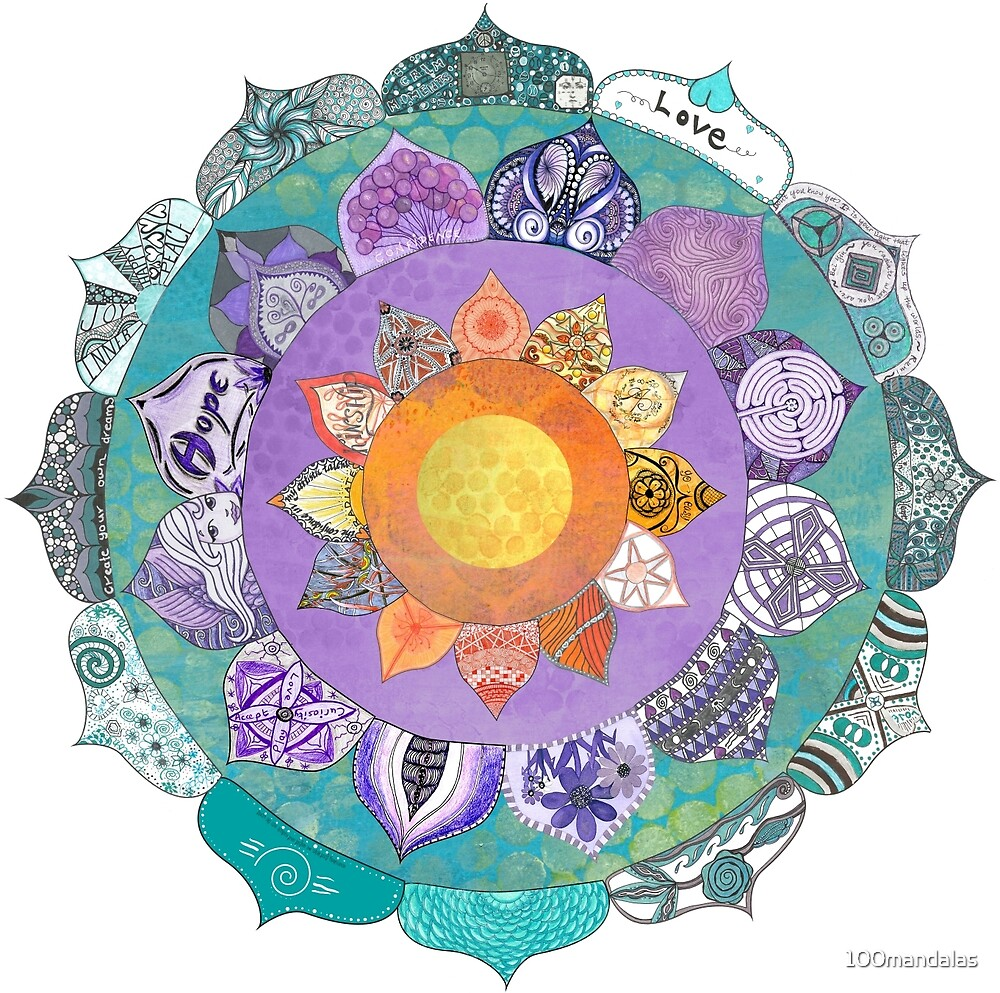Community Mandala - Radiant Lotus Mandala by 100mandalas