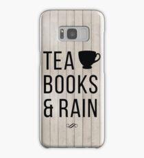 Tea Books & Rain Samsung Galaxy Case/Skin
