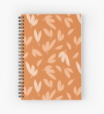 Floating autumn leaves Spiral Notebook
