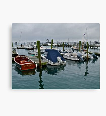 Storm Clouds Over the Harbor *featured Canvas Print