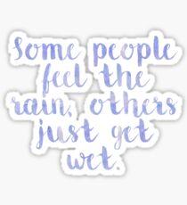 Rain Quote Sticker