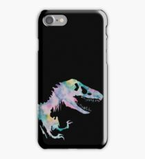Watercolor Jurassic (black) iPhone Case/Skin