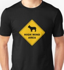 high wind area warning Unisex T-Shirt