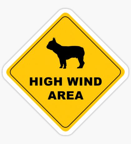 high wind area warning Sticker