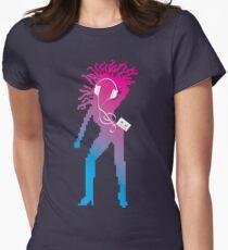 C90 Pod (purple) Womens Fitted T-Shirt
