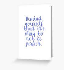 Perfect Quote Greeting Card