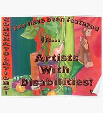feature tag for artists with disabilities Poster