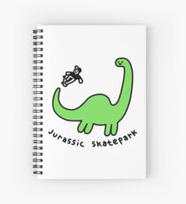 Jurassic Skatepark Spiral Notebook