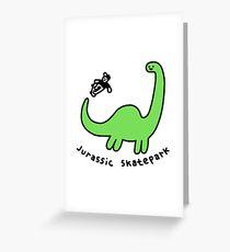 Jurassic Skatepark Greeting Card