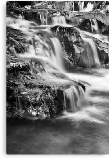 (Blue) Falls BW by Andy Freer