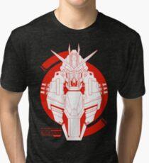 GAT-X105B Build Strike Gundam Tri-blend T-Shirt