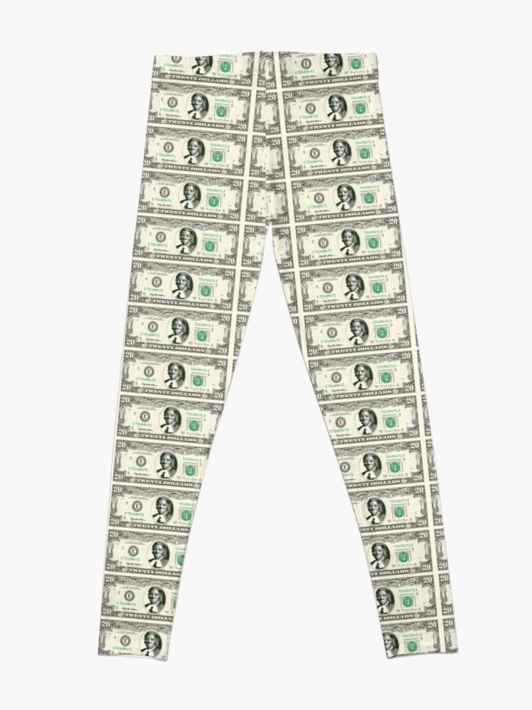 Alternate view of harriet tubman dollar Leggings