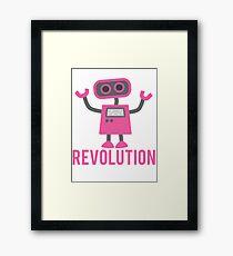 Robot Revolution Uprising Framed Print