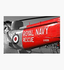 Royal Navy Rescue Helicopter Photographic Print