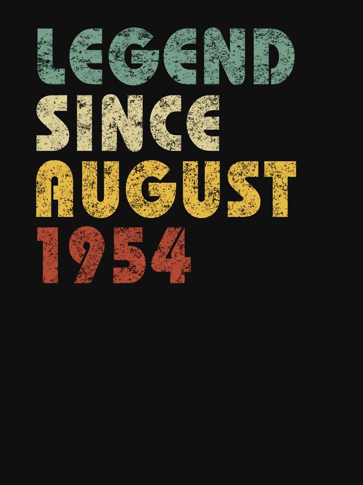 Leyenda Desde agosto de 1954 Regalo de cumpleaños Regalo de época Citas divertidas Citas de hlcaldwell
