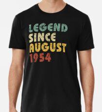 Camiseta premium Leyenda Desde agosto de 1954 Regalo de cumpleaños Regalo de época Citas divertidas Citas