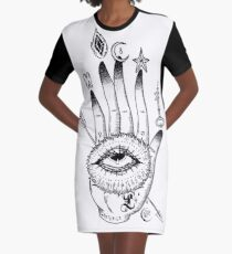 Hand of Mysteries  Graphic T-Shirt Dress