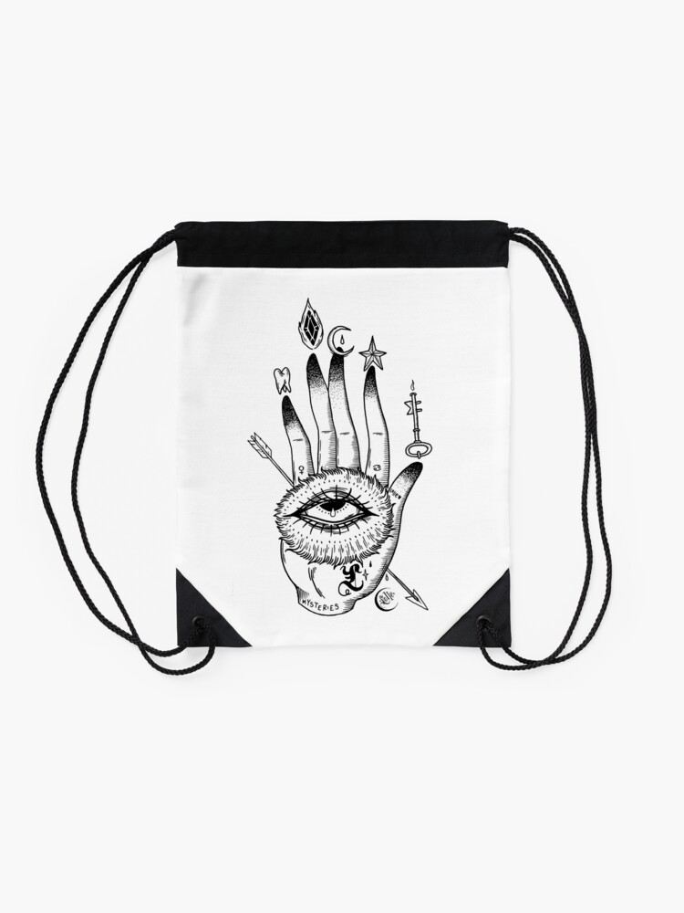 Alternate view of Hand of Mysteries  Drawstring Bag
