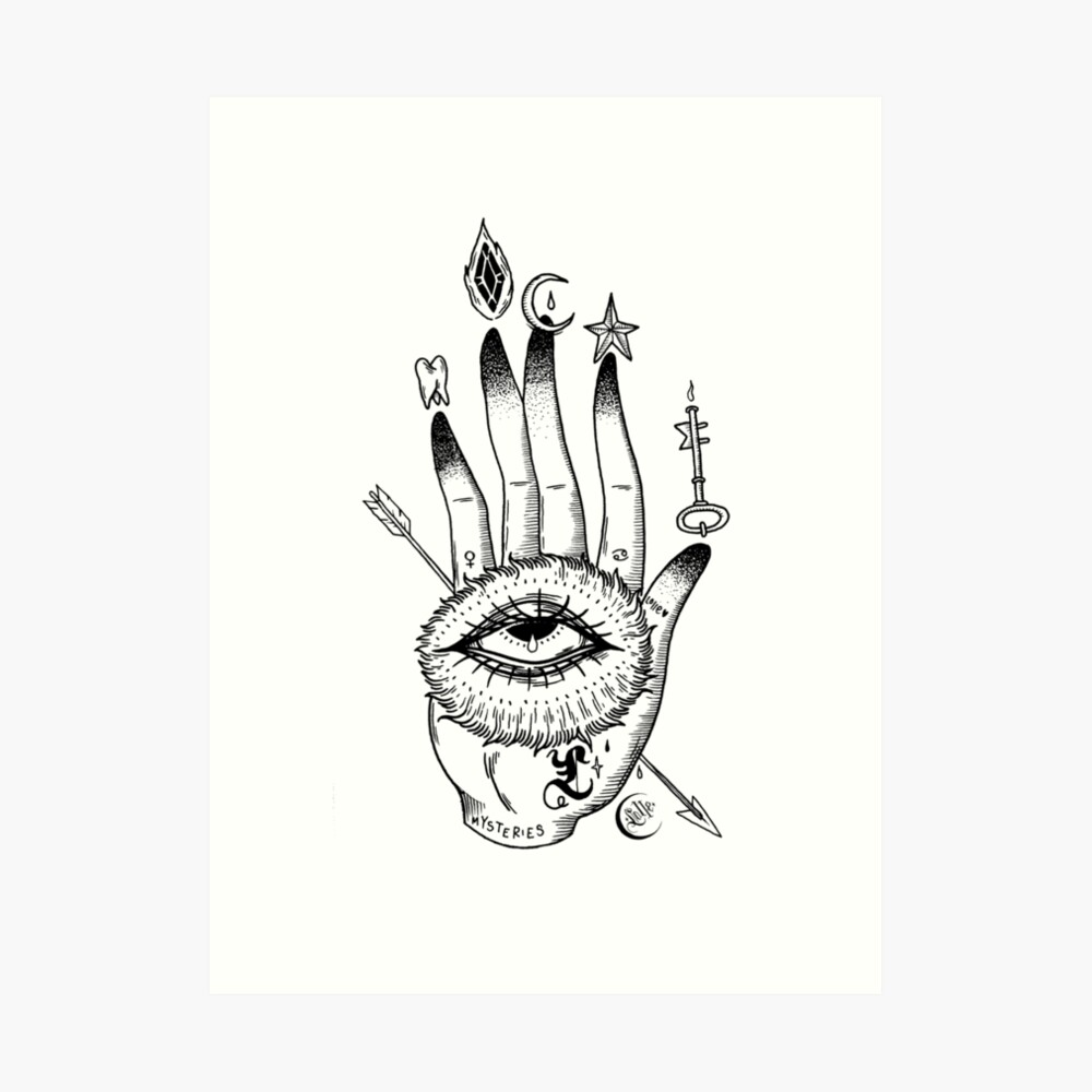 Hand of Mysteries  Art Print