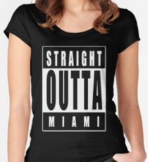 Straight Outta Miami Women's Fitted Scoop T-Shirt