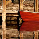 Red Boat Reflected by Justin Baer