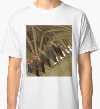 British Legion Flags, Exeter Cathedral, Devon Classic T-Shirt