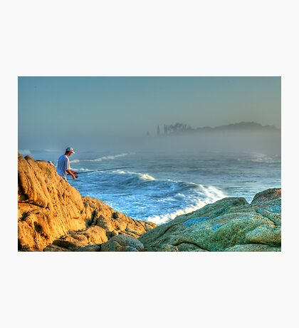 The Lone Fisherman Photographic Print