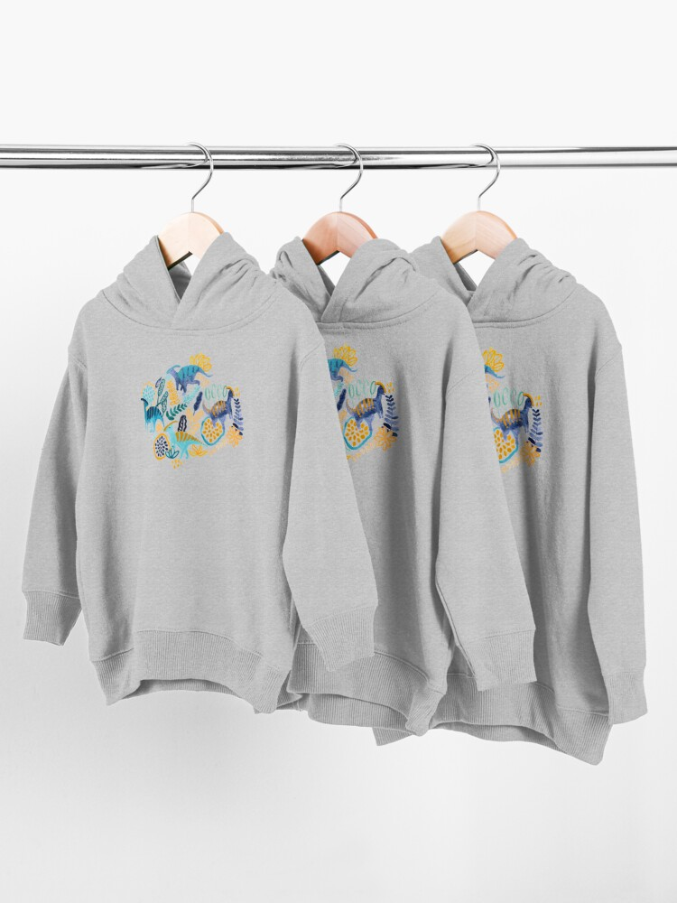 Alternate view of Gouache Parasaurolophuses  Toddler Pullover Hoodie