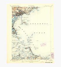 Massachusetts  USGS Historical Topo Map MA Boston Bay 352525 1903 62500 Photographic Print