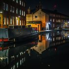 Cambrian Wharf Night Reflection by Chris Fletcher