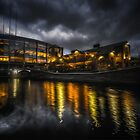 Brindley Place At Night by Chris Fletcher