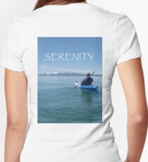 Serenity Women's Fitted V-Neck T-Shirt