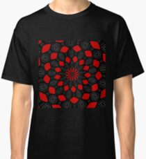 Red and Black Kaleidsoscope Classic T-Shirt