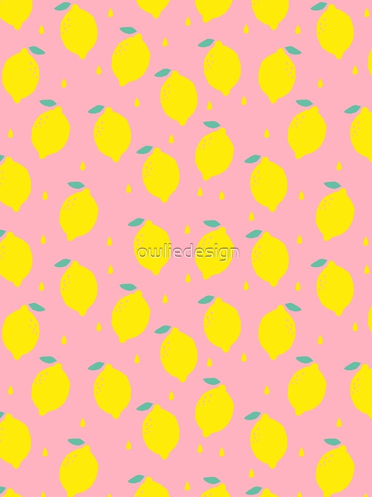 Sweet Lemon Pattern by owliedesign