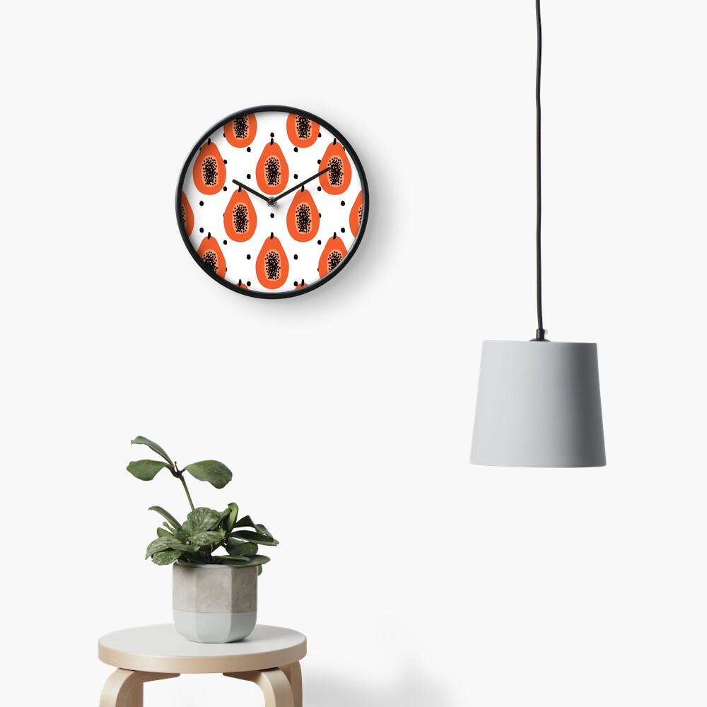 Super Papaya-Muster Uhr