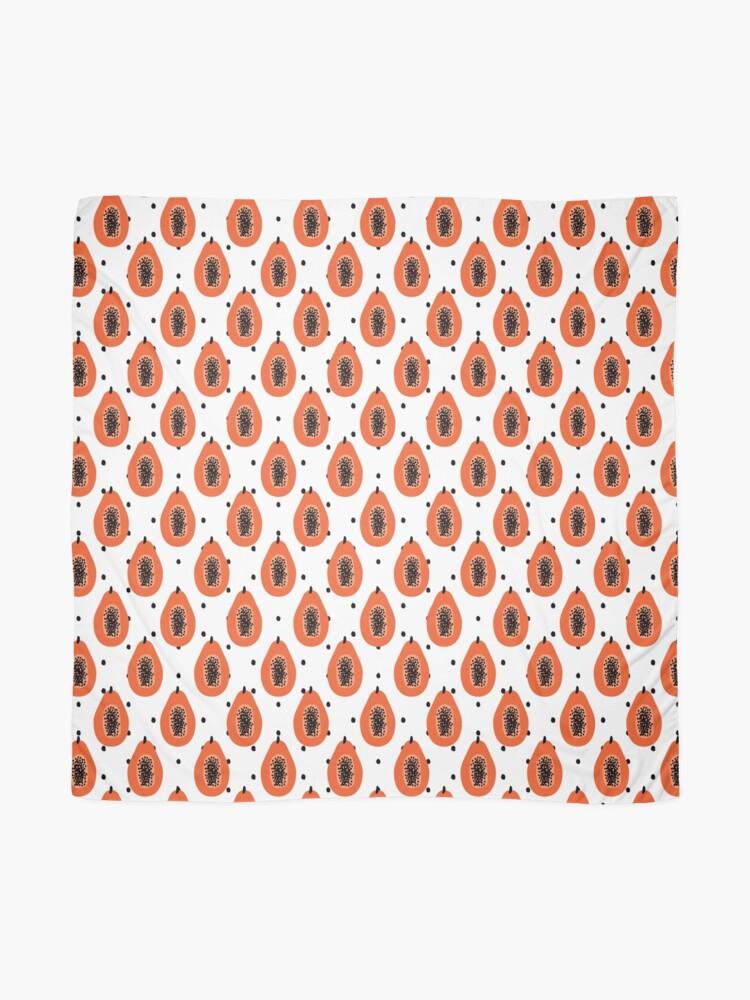 Alternative Ansicht von Super Papaya-Muster Tuch