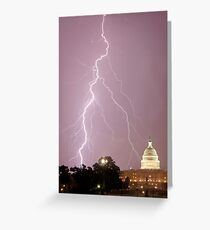 US Capitol Building - Lightning Greeting Card